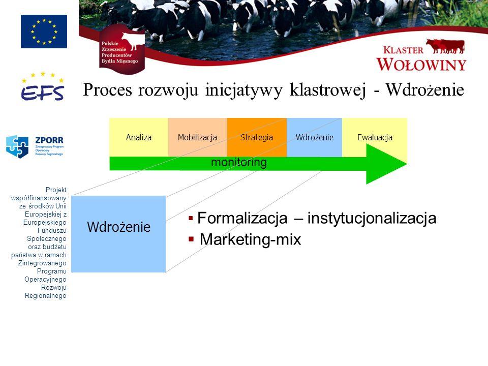 Proces rozwoju inicjatywy klastrowej - Wdrożenie