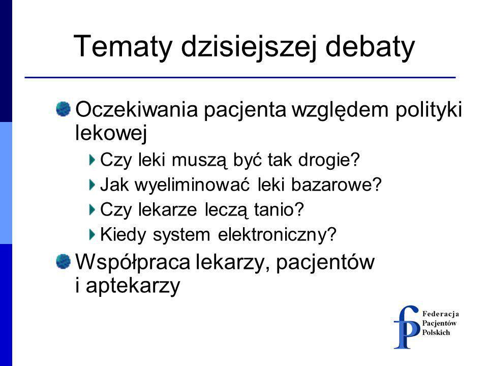 Tematy dzisiejszej debaty