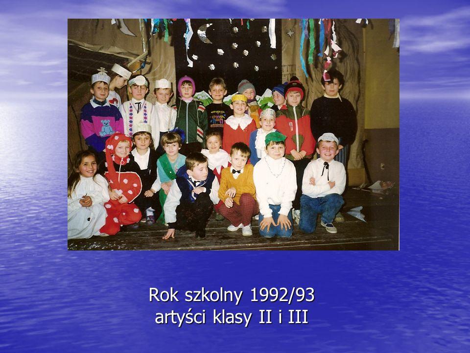Rok szkolny 1992/93 artyści klasy II i III