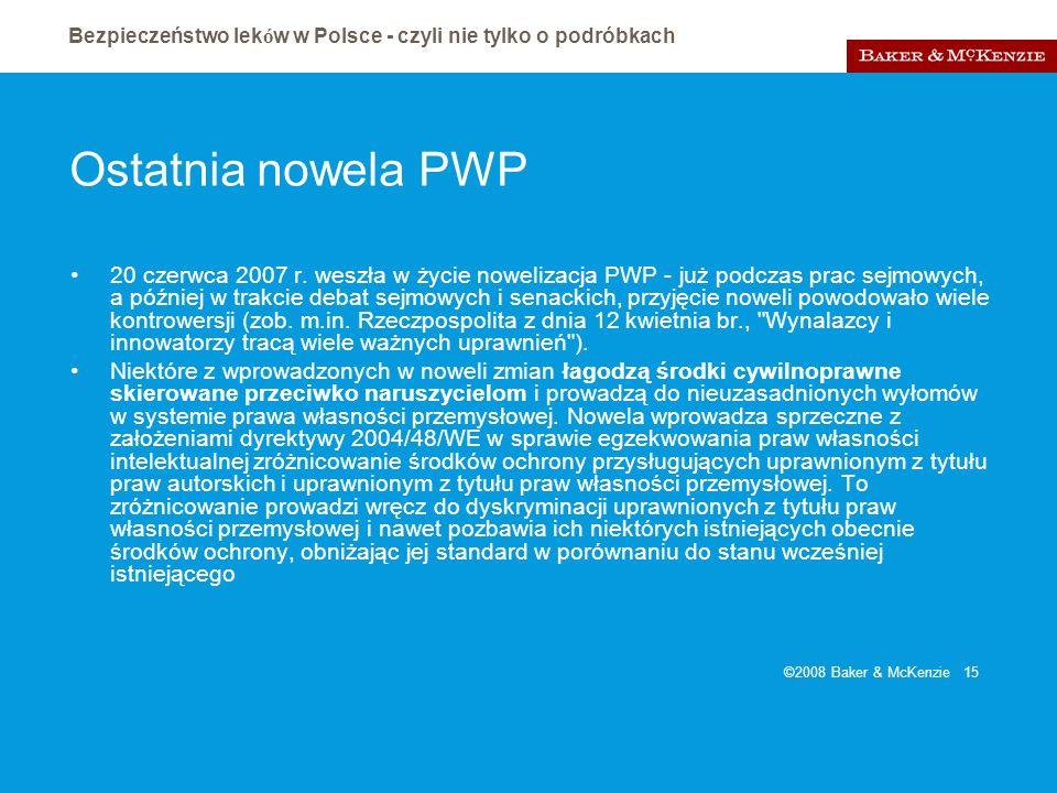 Ostatnia nowela PWP