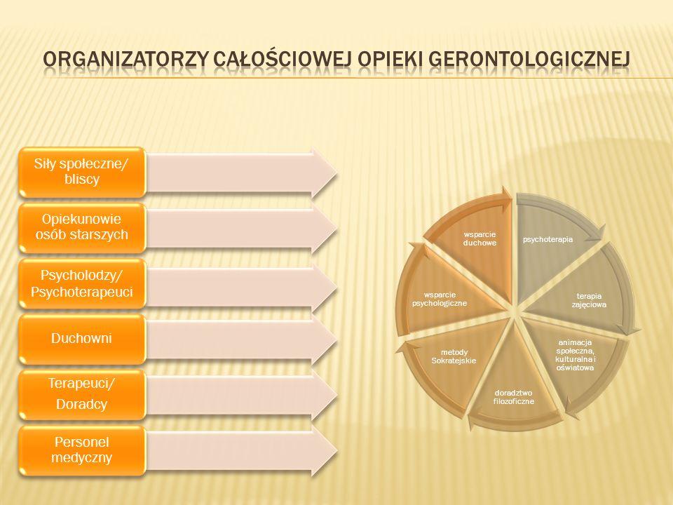 Organizatorzy całościowej opieki gerontologicznej