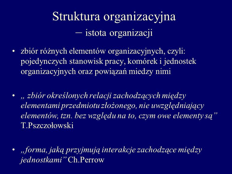 Struktura organizacyjna – istota organizacji