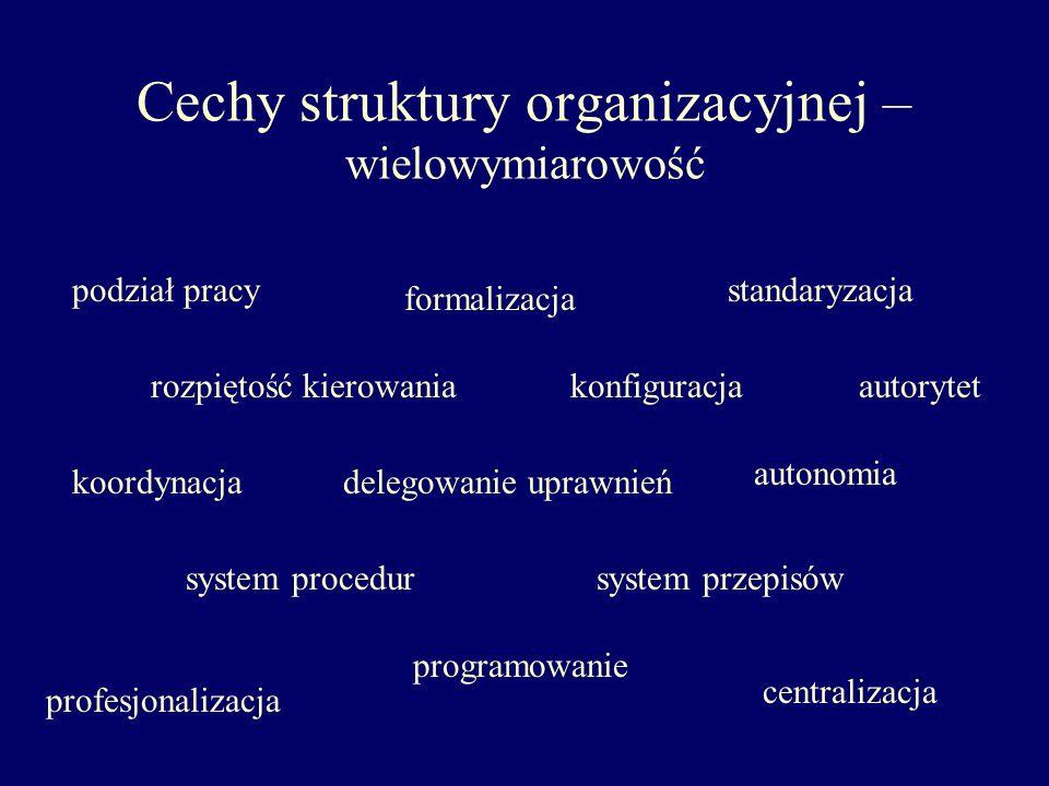 Cechy struktury organizacyjnej – wielowymiarowość