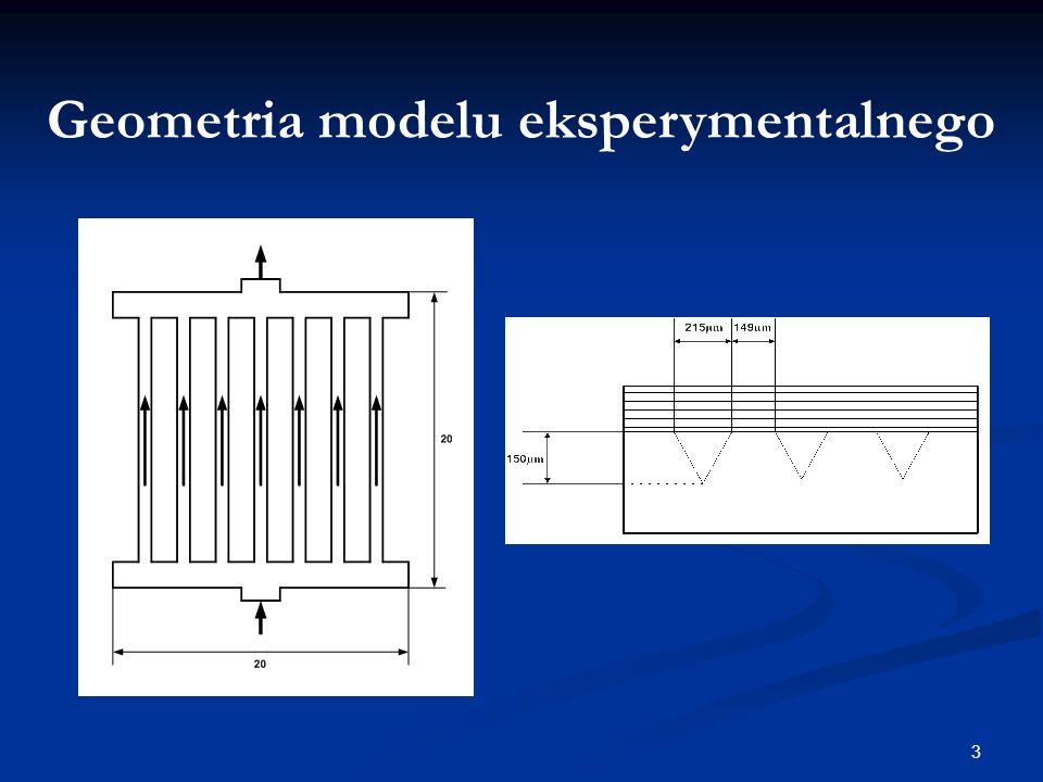 Geometria modelu eksperymentalnego