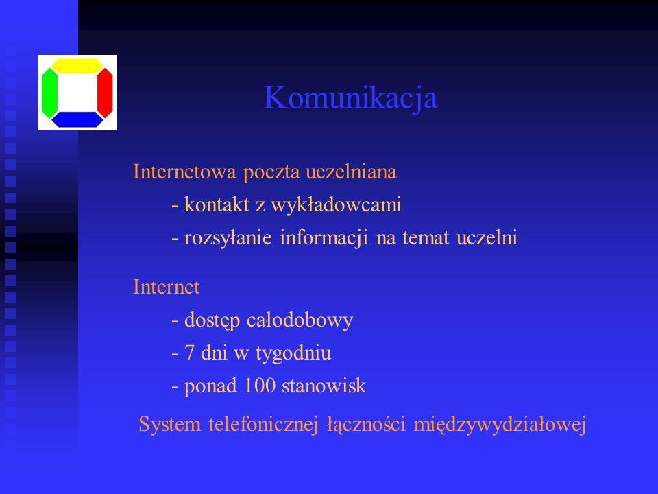 Komunikacja Internetowa poczta uczelniana kontakt z wykładowcami