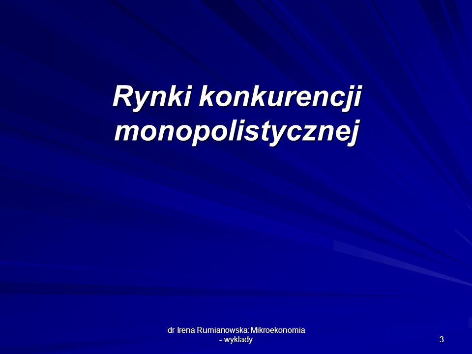 Rynki konkurencji monopolistycznej