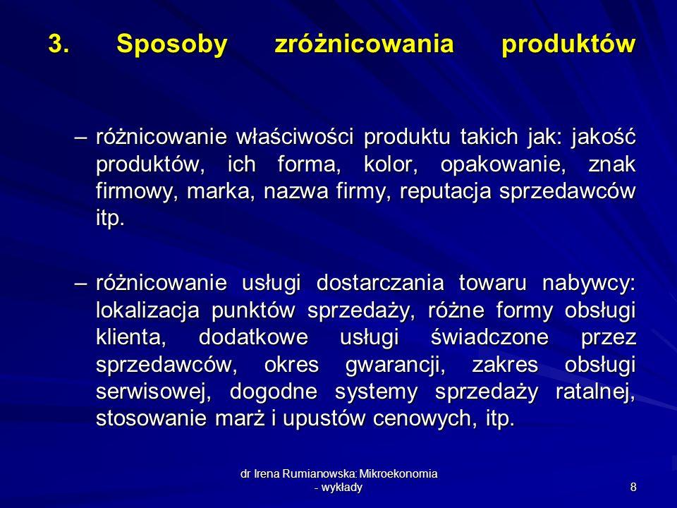 3. Sposoby zróżnicowania produktów