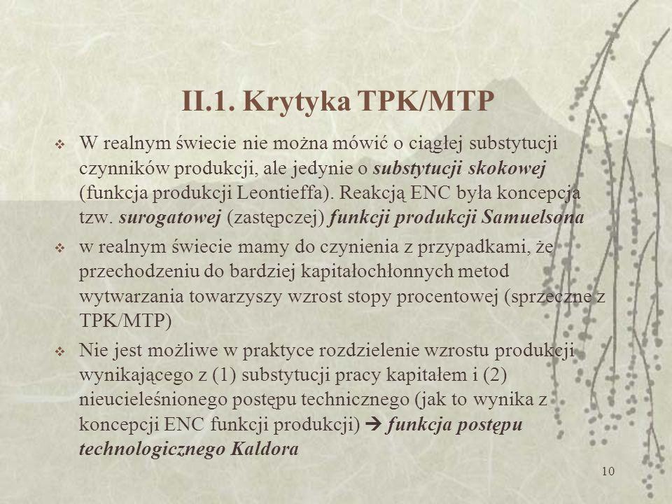 II.1. Krytyka TPK/MTP