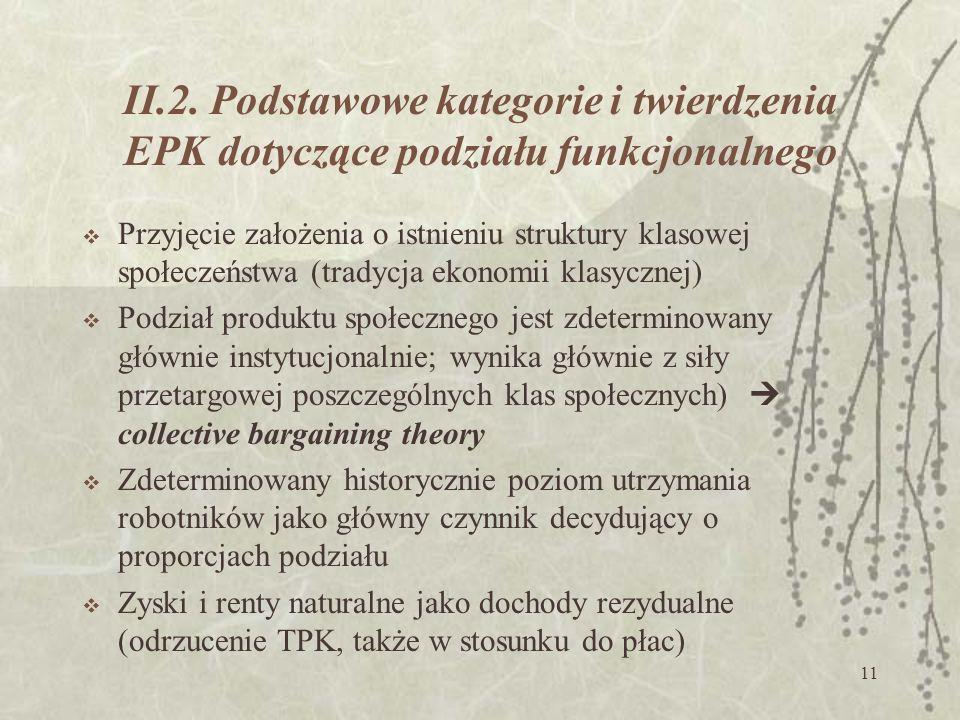II.2. Podstawowe kategorie i twierdzenia EPK dotyczące podziału funkcjonalnego