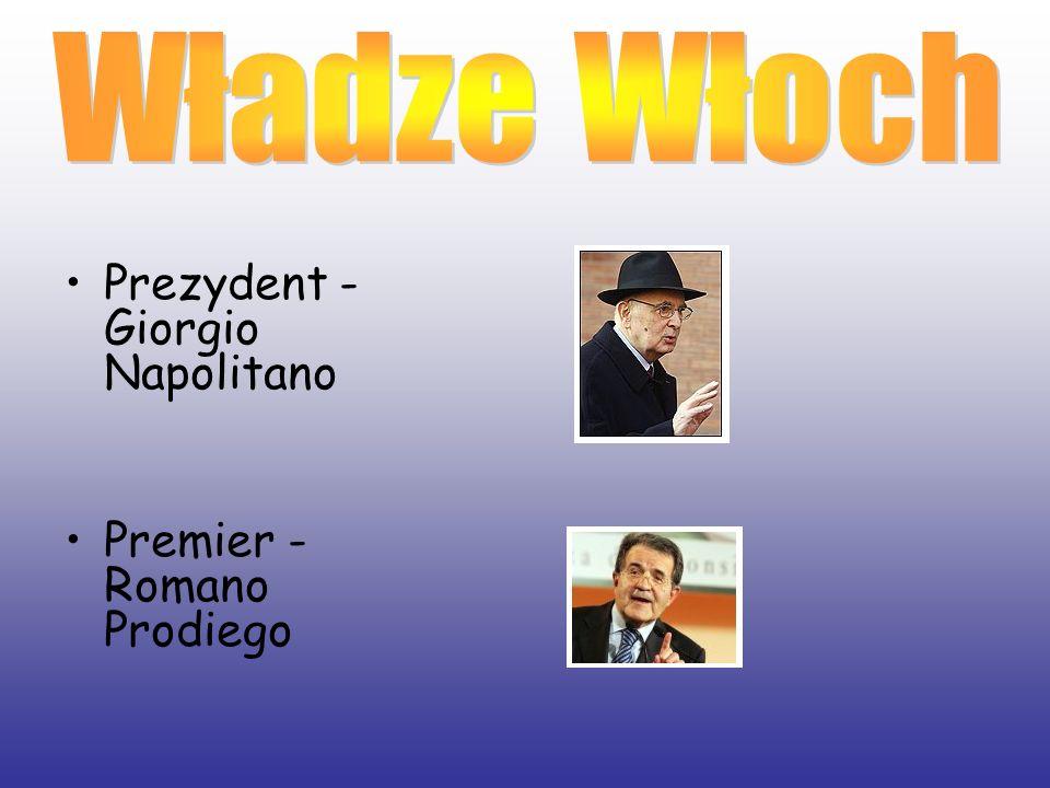 Władze Włoch Prezydent - Giorgio Napolitano Premier - Romano Prodiego