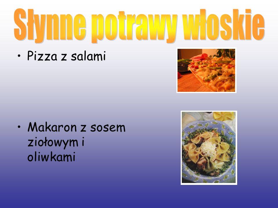 Słynne potrawy włoskie