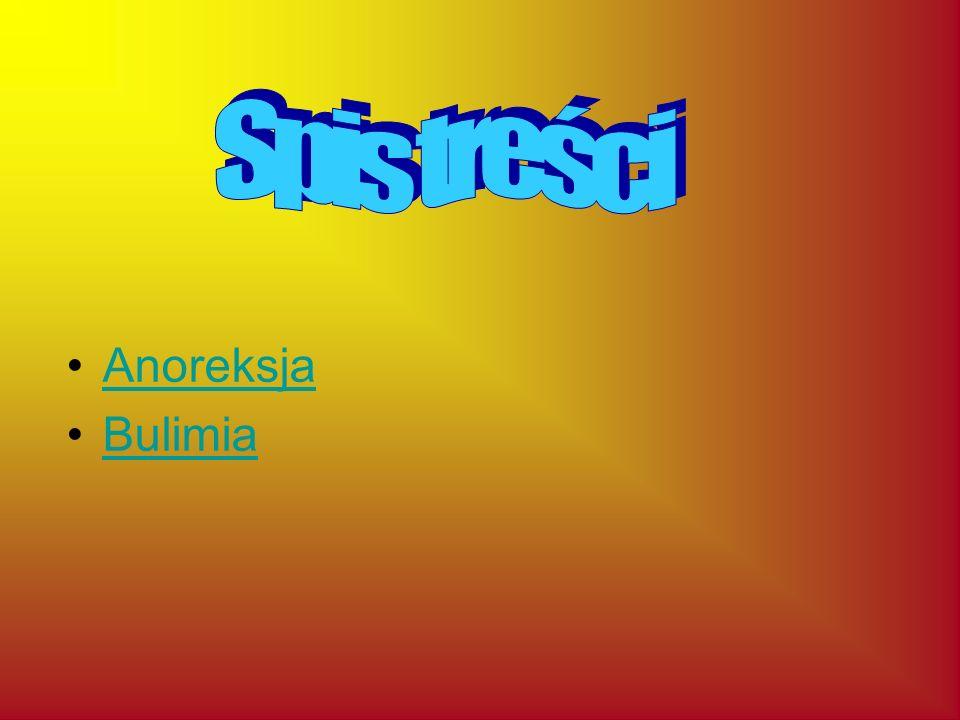 Spis treści Anoreksja Bulimia