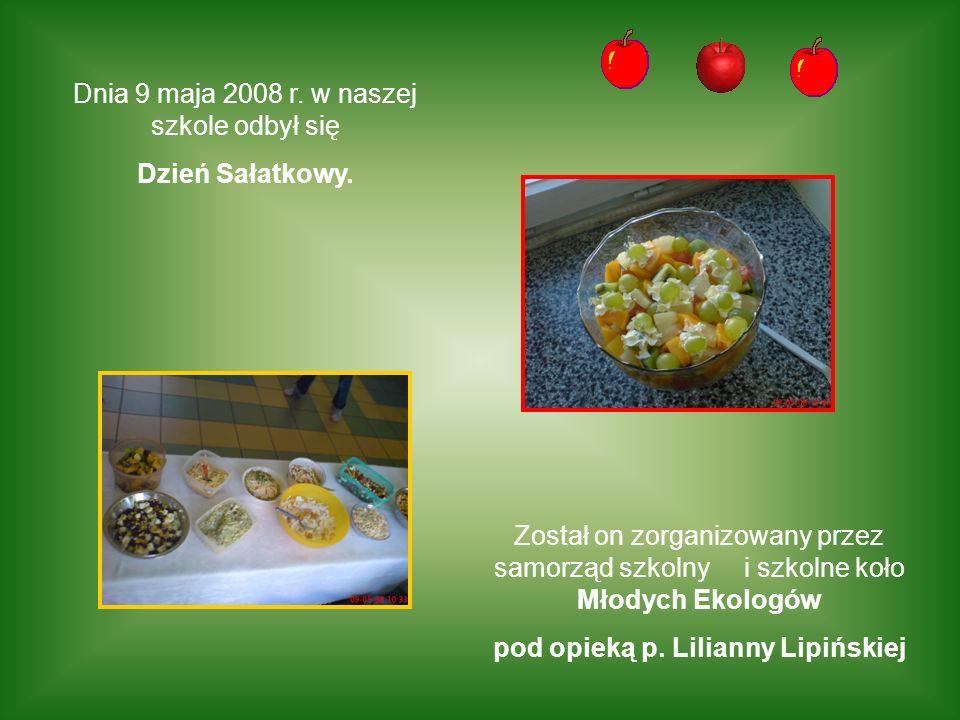 pod opieką p. Lilianny Lipińskiej