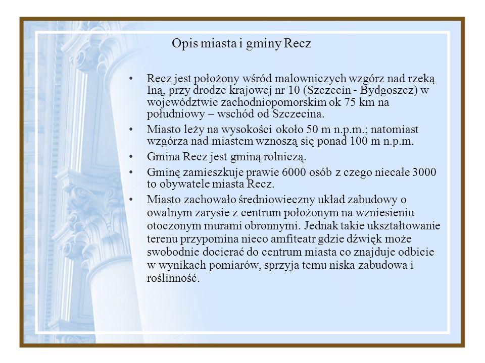 Opis miasta i gminy Recz