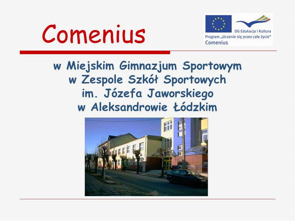 Comenius w Miejskim Gimnazjum Sportowym w Zespole Szkół Sportowych im.