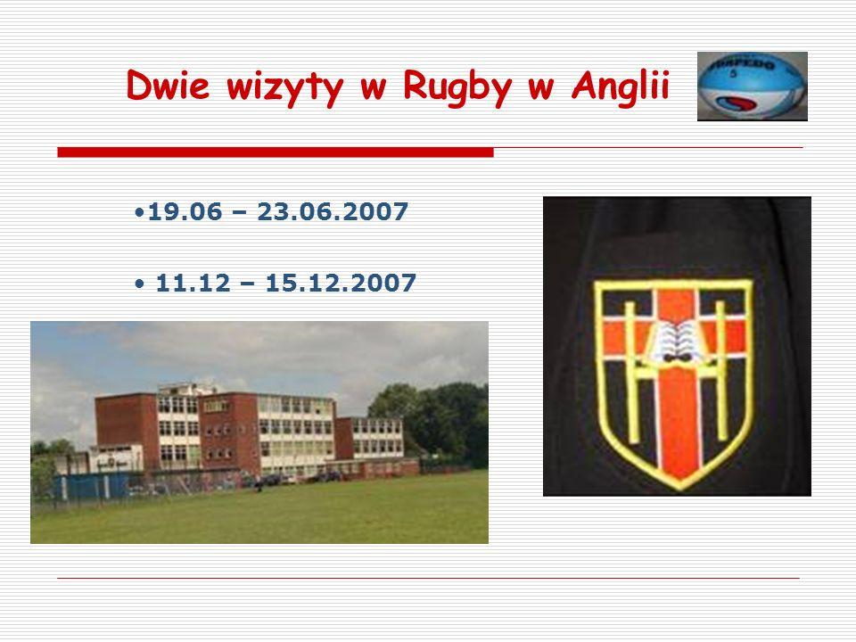 Dwie wizyty w Rugby w Anglii