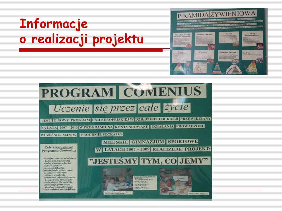Informacje o realizacji projektu