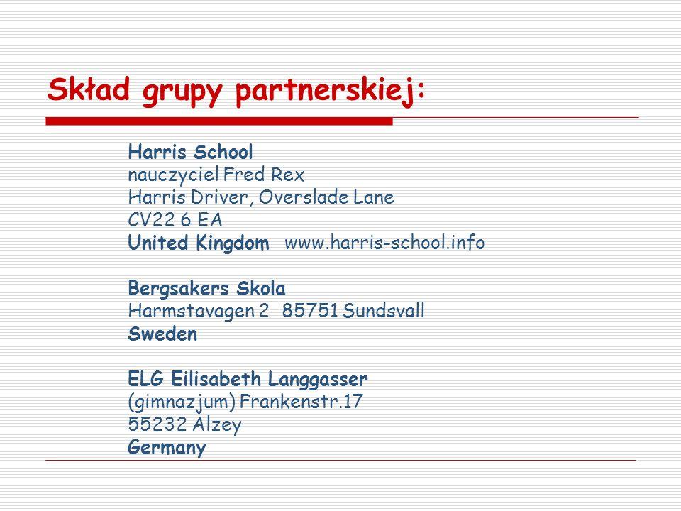 Skład grupy partnerskiej: