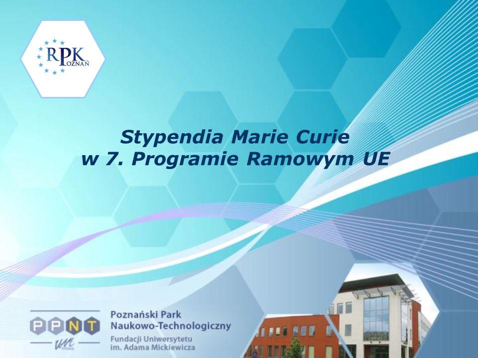 Stypendia Marie Curie w 7. Programie Ramowym UE