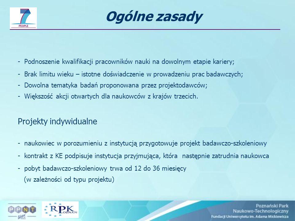 Ogólne zasady Projekty indywidualne
