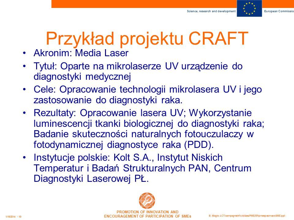 Przykład projektu CRAFT