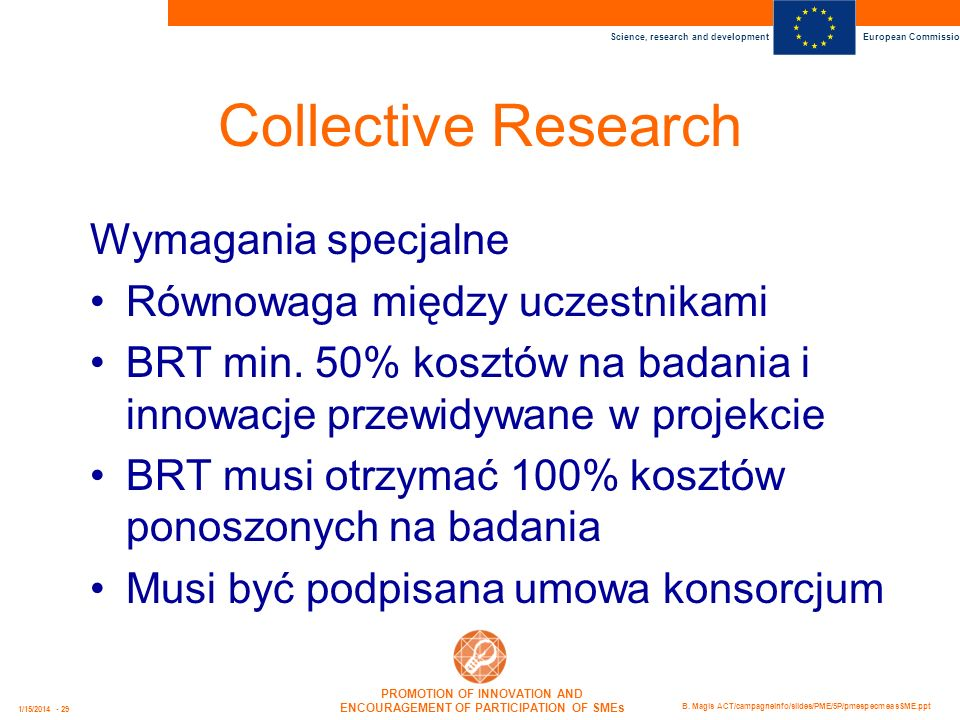 Collective Research Wymagania specjalne Równowaga między uczestnikami