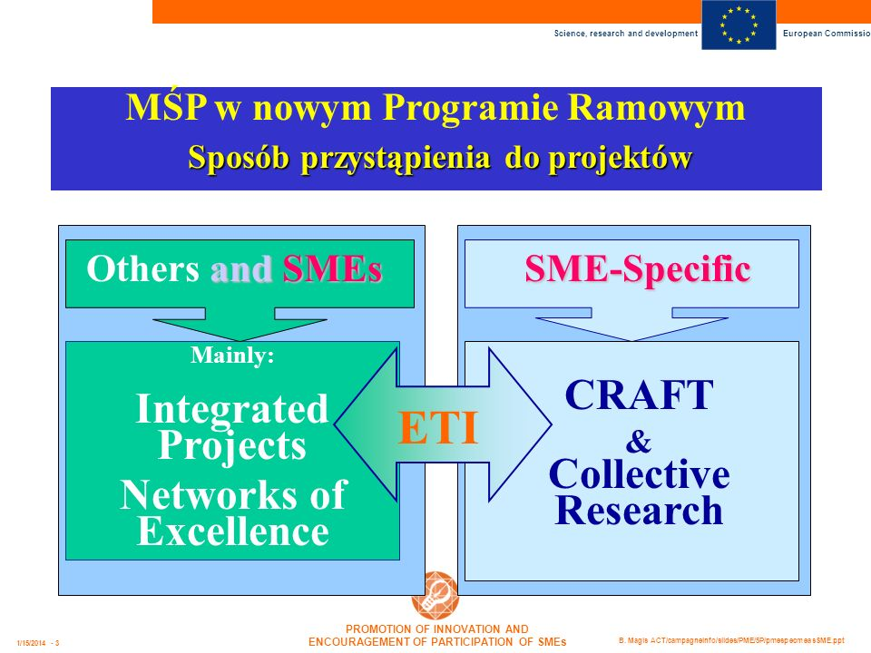MŚP w nowym Programie Ramowym Networks of Excellence