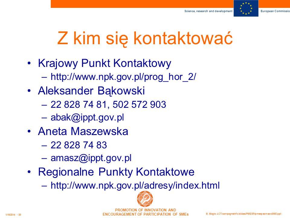 Z kim się kontaktować Krajowy Punkt Kontaktowy Aleksander Bąkowski