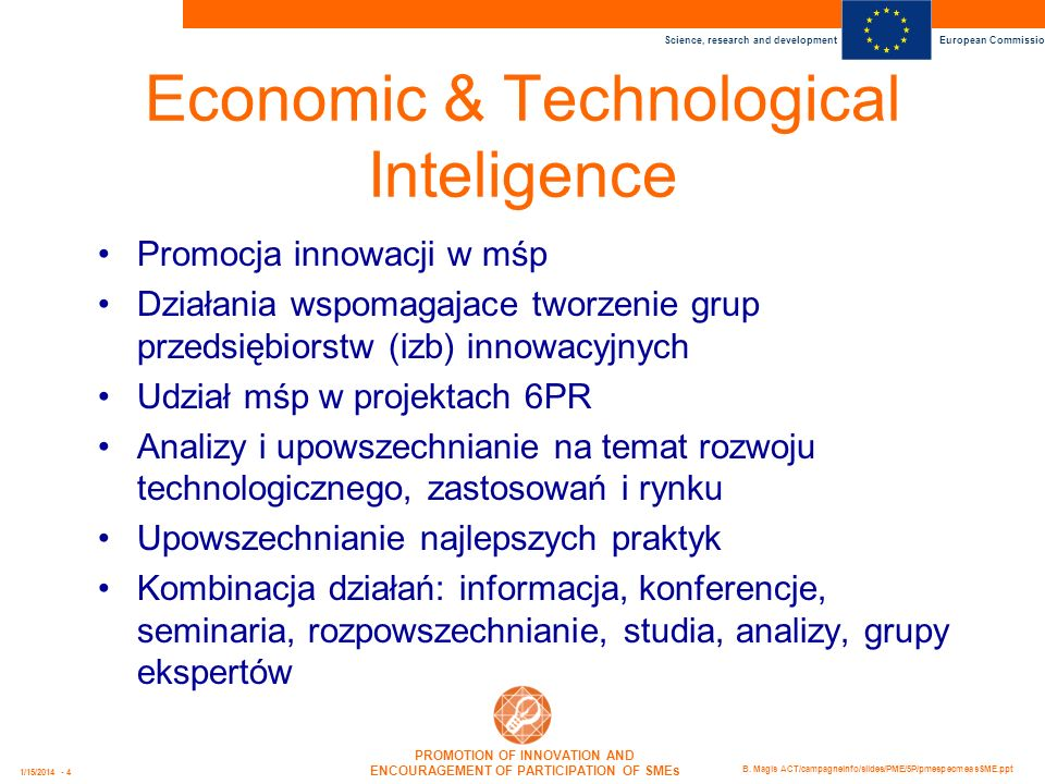 Economic & Technological Inteligence