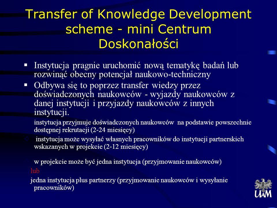 Transfer of Knowledge Development scheme - mini Centrum Doskonałości