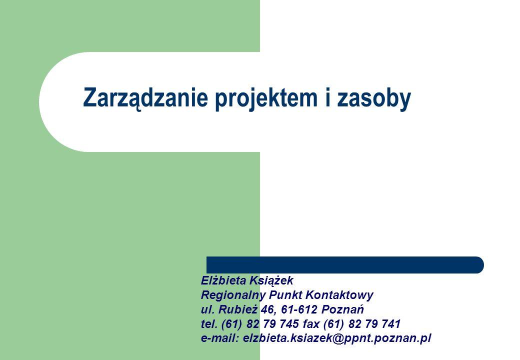 Zarządzanie projektem i zasoby