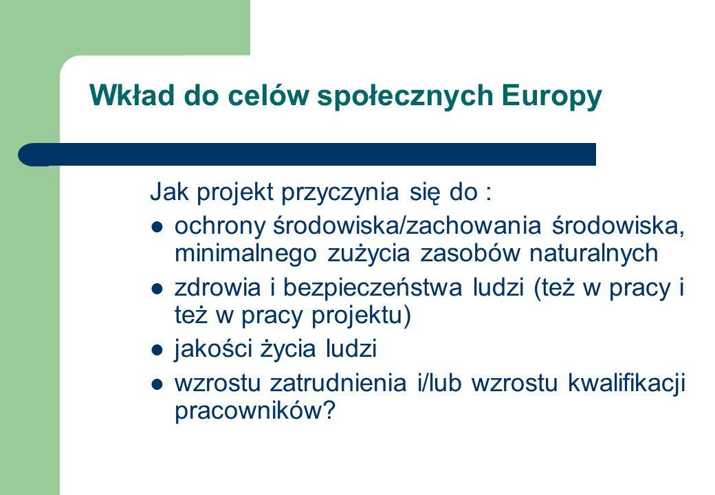 Wkład do celów społecznych Europy