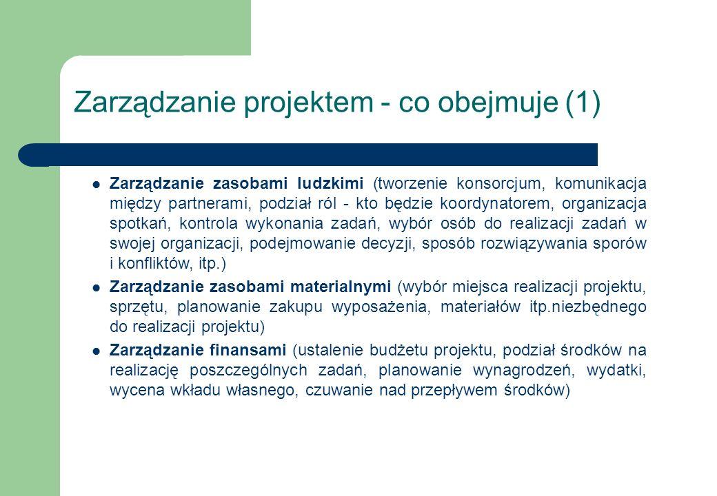 Zarządzanie projektem - co obejmuje (1)