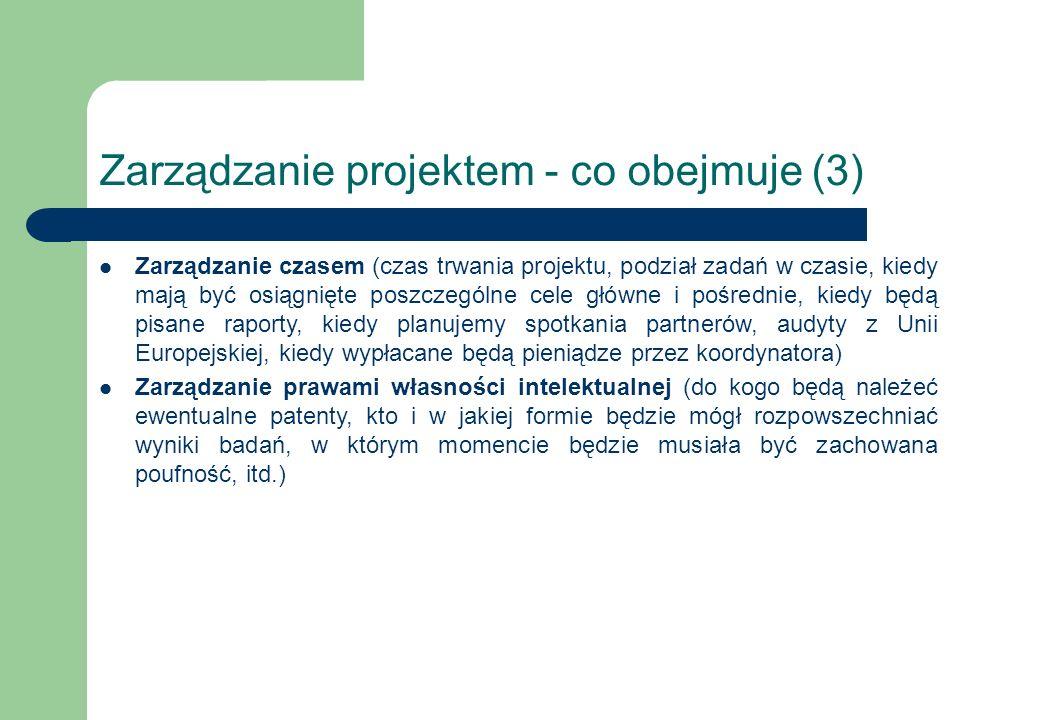 Zarządzanie projektem - co obejmuje (3)