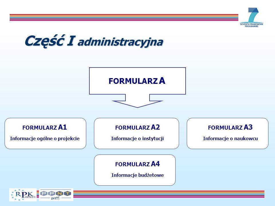 Część I administracyjna