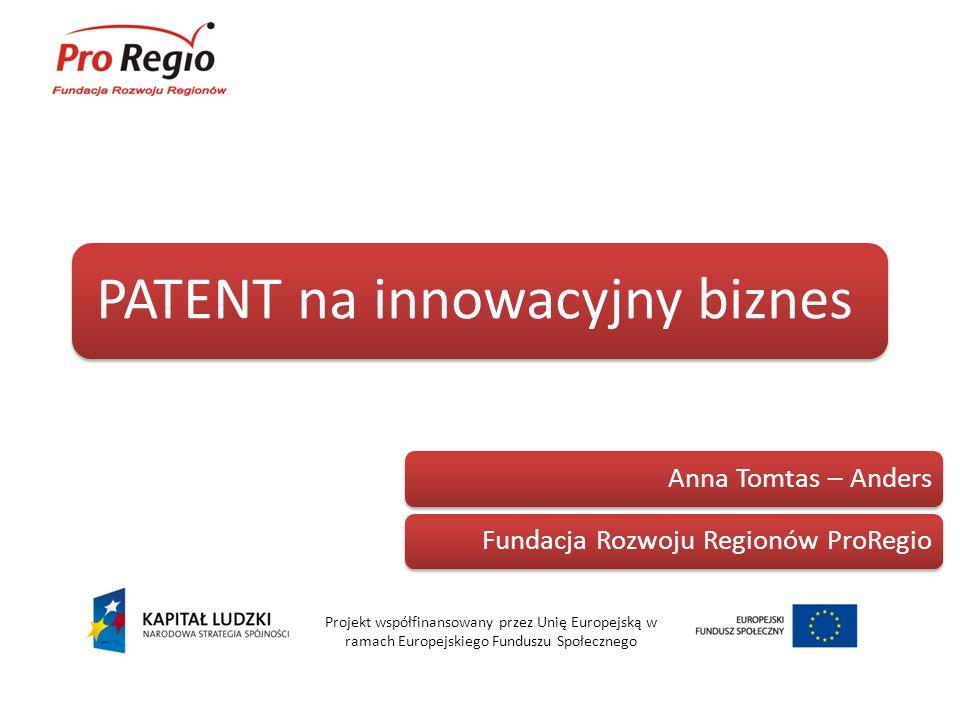 PATENT na innowacyjny biznes