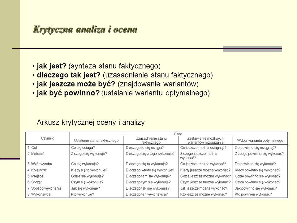 Krytyczna analiza i ocena