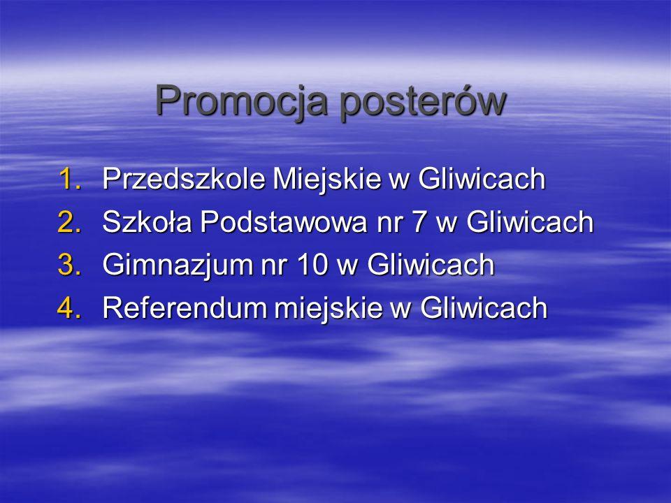 Promocja posterów Przedszkole Miejskie w Gliwicach