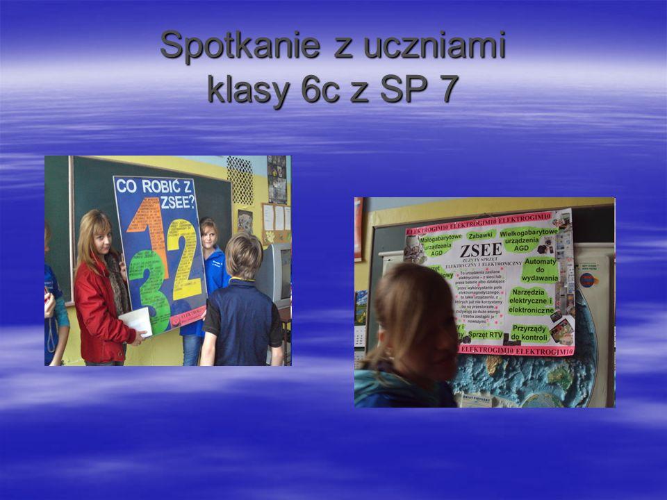 Spotkanie z uczniami klasy 6c z SP 7