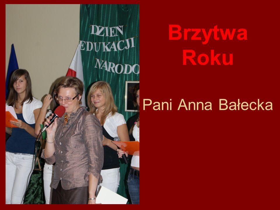 Brzytwa Roku Pani Anna Bałecka