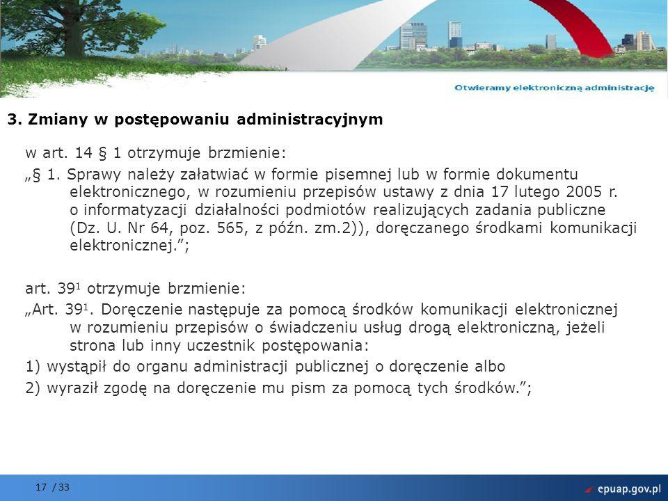 3. Zmiany w postępowaniu administracyjnym
