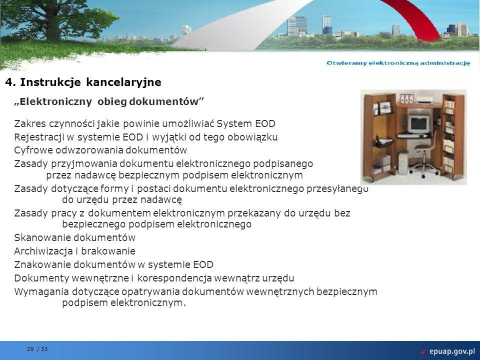 4. Instrukcje kancelaryjne