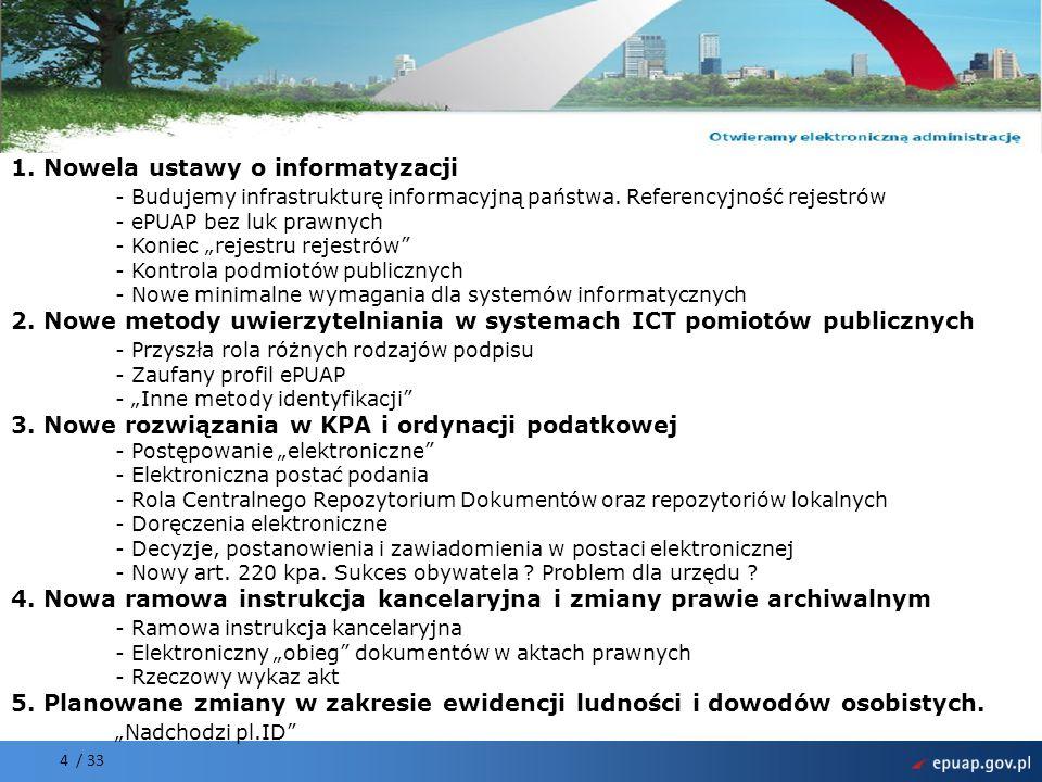1. Nowela ustawy o informatyzacji