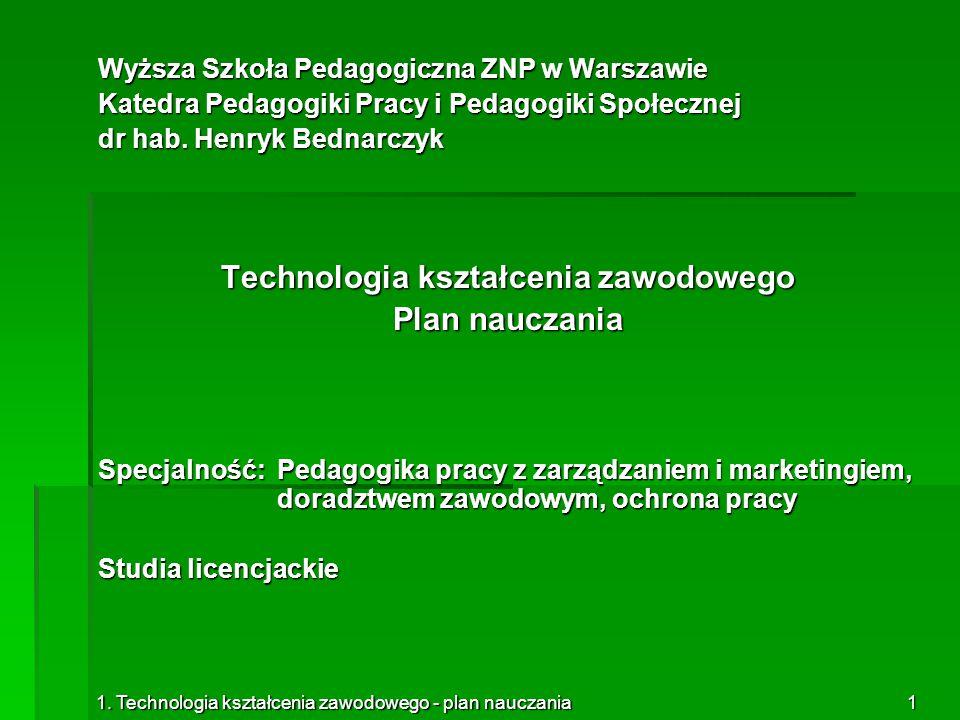 Technologia kształcenia zawodowego