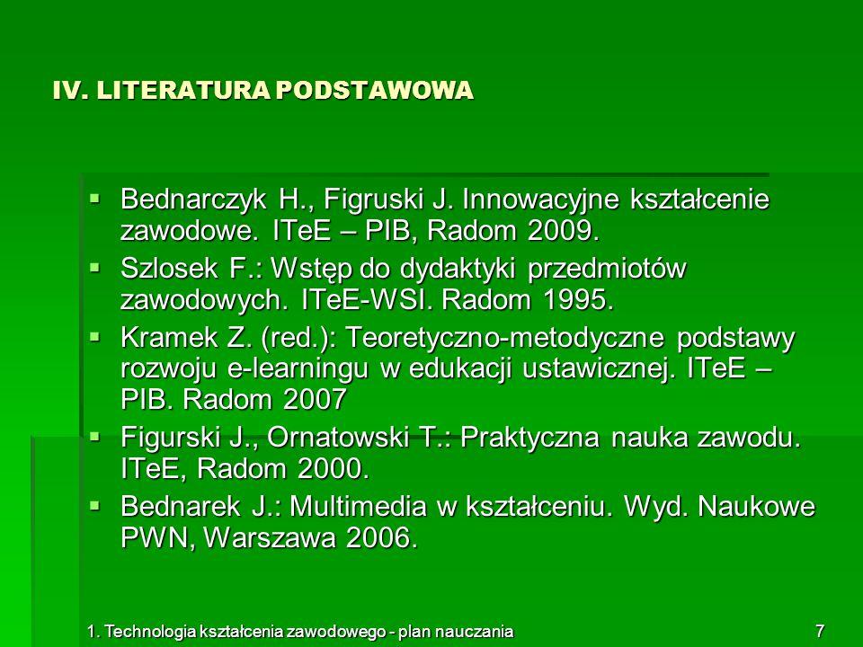 IV. LITERATURA PODSTAWOWA