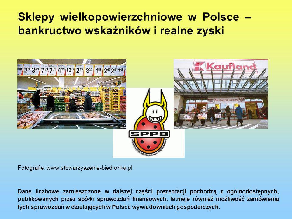 Sklepy wielkopowierzchniowe w Polsce – bankructwo wskaźników i realne zyski