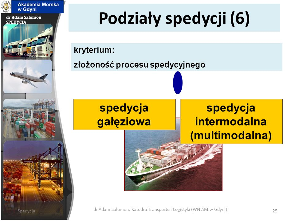 spedycja intermodalna (multimodalna)