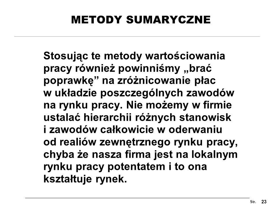 METODY SUMARYCZNE