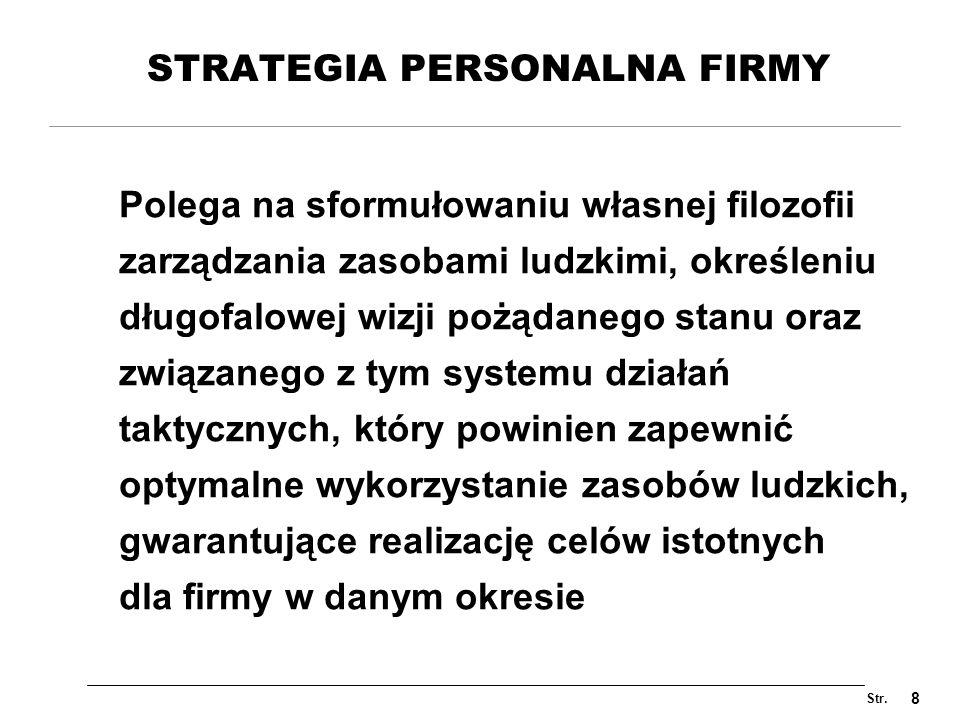 STRATEGIA PERSONALNA FIRMY
