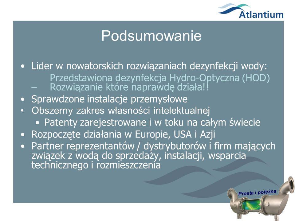 Podsumowanie Lider w nowatorskich rozwiązaniach dezynfekcji wody: